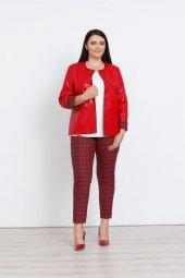 Modailgi Deri Ceket Kırmızı