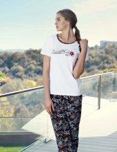 şahinler Kısa Kollu Kadın Pijama Takımı Beyaz Mbp23432 2