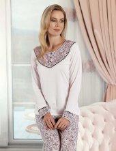 şahinler Sal Desenli Kadın Pijama Takımı Mbp23424 1