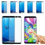 Samsung Galaxy S8 S8 Plus 3d Kavisli Full Tam Ekran Cam Koruyucu