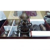 çay Takımı Bakır İşleme Cam 6 Lı Set