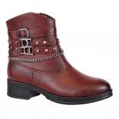 Nstep 25166 Zn Fermuarlı Zincirli Termal Bayan Kışlık Bot Ayakkab