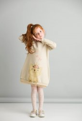Denokids Cat Dream Kız Çocuk Elbise