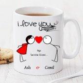 Aşk Seninle Güzel Kişiye Özel Kupa Pi172