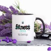 Kişiye Özel Lacivert Renkli Fitness Eğitmeni Kupa Bardak