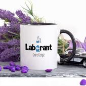 Kişiye Özel Lacivert Renkli Laborant Kupa Bardak