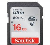 Sandisk Sdsdunc 016g Gn6ın Ultra Sdhc 16gb 80mb S ...