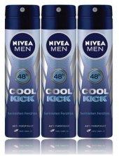 Nivea Deo Sprey Erkek Deodorant Cool Kick 150ml 3 Adet