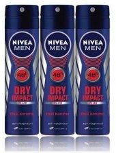Nivea Deo Sprey Erkek Deodorant Dry İmpact 150ml 3 Adet