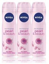 Nivea Deo Sprey Kadın Deodorant Pearl&beauty 150ml 3 Adet