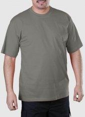 Sıfır Yaka Tişört Gri İş Elbiseleri (113e132)