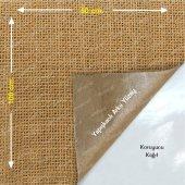 Yapışkanlı Doğal Jüt Telis Kumaş Çuval Bezi 50 X 100cm