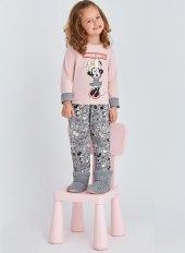 Rp 4001 Mıckey Mouse Kız Çocuk Pijama Takımı Pembe