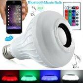 Bluetooth Hoparlör Akıllı Led Ampül Müzikli Lamba Ses Bombası