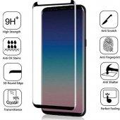 Samsung S9 Siyah 3d Kırılmaz Ekran Koruyucu Premium Glass