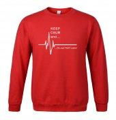 Keep Calm And Sweatshirt Kırmızı