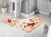 Bh 1723 Kumsal Deniz Kabukları Deniz Yıldızı 3d Banyo Paspas Tak