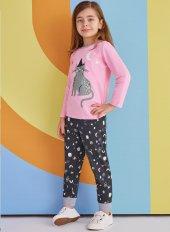 Rp 1358 Kız Çocuk Pijama Takımı Pembe 1 4 Yaş