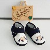 Laci Ayıcıklı Bez Bebek Ayakkabısı