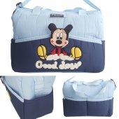Sevimli Mickey Bebek Çantası Açık Mavi