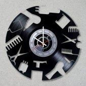 Berber Dükkanı Duvar Saati Modern Tasarım