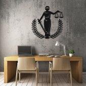 Dekoratif Ahşap Duvar Tablo Adalet Sembolü