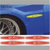 Alfa Romeo Çamurluk Oto Sticker 4 Adet