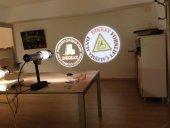 Güvenlik Işığı İç Mekan 40w Sabit Logo Lazer Yansıtıcı Cihaz Fabrika Güvenlik Işığı