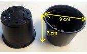 Vakum Uretim Saksısı 30 Adet 9x7 Cm 0,29 Litre Üretim Saksısı Siyah Saksı Fide Saksı