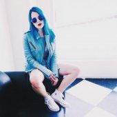 Mavi Bayan Deri Mont