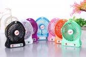 3 Kademeli Mini Şarjlı Fan Mobil Soğutucu