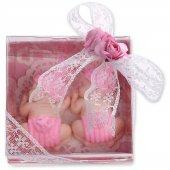 Ikiz Kız Bebekler İçin Kokulu Sabun Ponpon Bebekler