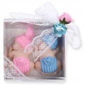 Bebek Şekeri Kız Erkek İkiz Bebekler İçin Kokulu Sabun