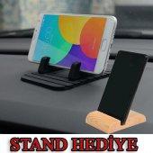 Oto Araç İçi Telefon Tutucu Kaydırmaz Silikon Masaüstü Dock Stand