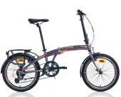Carraro Flexi 108 Katlanır Bisiklet 20 İnch 8 Vites V Fren Antras
