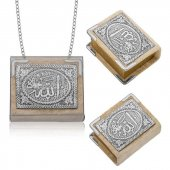 Pirmoda Gümüş Zincirli Küçük Kuranı I Kerim