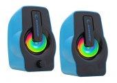 Rampage Oyuncu Tasarım Rms G7 Falsetto 2.0 6 Watt 50hz 20khz Mavi Multimedia 5v Usb Speaker