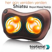 Shiatsu Boyun Masaj Yastığı Yoğurmalı Ve Isıtmalı