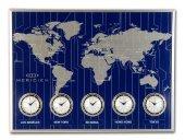 1395 Bus Mavi Küçük Dünya Saatı