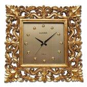 1614 Gp Kare Yaldız Oymalı Döküm Saat