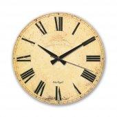 310 9 Ahşap Üzeri Eskitme Kadranlı Saat