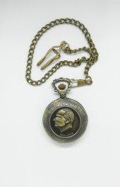 Atatürk Desenli Köstekli Saat Sarı
