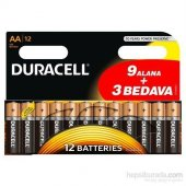 Duracell Alkalin Aa Kalem Pil (9+3) 12li Paket