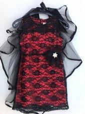 Tül Pelerinli Elbise