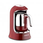 Korkmaz Kahvekolik Kırmızı Otomatik Kahve Makinesi A860 03