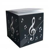 Müzik Notalı Küp Notluk Yenilik, Sırttan Ciltli