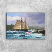Yelkenli Tekneler Yarış 6, Deniz Manzara Kanvas Tablo