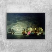 Savaş Gemileri, Deniz, Tekneler 1 Yağlı Boya Sanat Kanvas Tablo