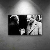Mustafa Kemal Atatürk Köylü Dinliyor Dekoratif Can...