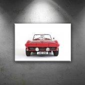 Corvette Stingray Kırmızı Klasik Otomobil Dekorati...